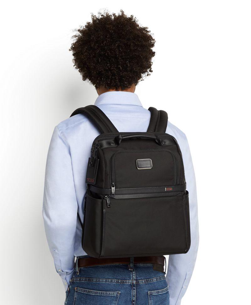 黑薄款公文双肩包